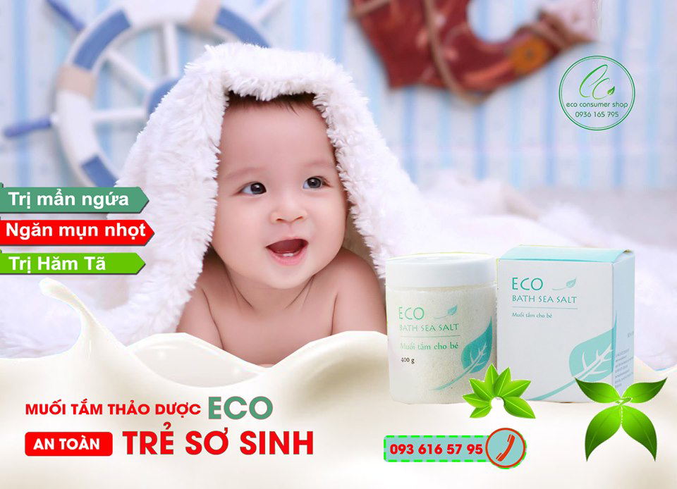 Muối Tắm Bé Eco Được Sản Xuất Bởi HTX Sinh Dược